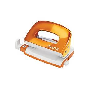 Leitz 50601 Wow Mini Punch Orange -10 Sheets Capacity