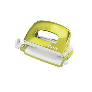 Leitz 50601 Wow Mini Punch Green -10 Sheets Capacity