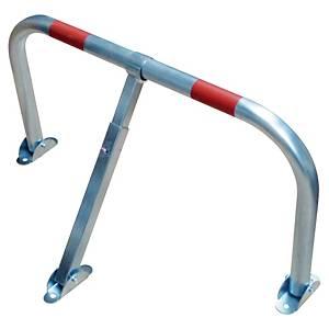 Parkbügel Viso STOPCAR, 755 x 405mm, abschließbar, Gewicht: 4kg, silber