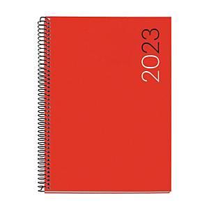 Agenda Miquelrius Basic City - día página - 155 x 213 mm - rojo