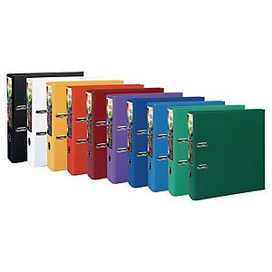 Exacompta Prem-Touch A4 Maxi Lever Arch File, 80mm Spine, Assorted Pack 10