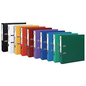 Exacompta Premium Touch lever arch file in PP 8 cm assorted colours - pack of 10