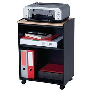 Paperflow bijzetwagen, B 51,4 x H 72 x D 33 cm, zwart en beuk