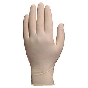 Delta Plus Veniclean 1340 latex disposable gloves - size 6/7 - box of 100