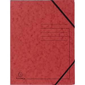 Eckspanner Falken 11286481, A4, aus Karton, Fassungsvermögen: 200 Bl, rot, 5 St