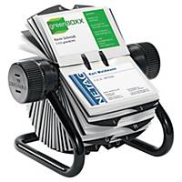 Durable Visifix Rotary File 400 Cards Black
