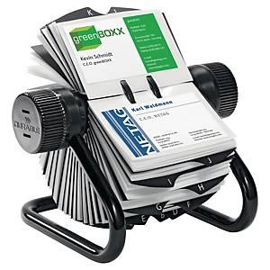 Fichero rotativo Durable Visifix - 195 x 135 mm - 400 tarjetas - negro