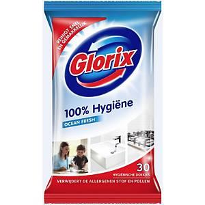 Glorix reinigingsdoekjes, ongeparfumeerd, pak van 30 doekjes