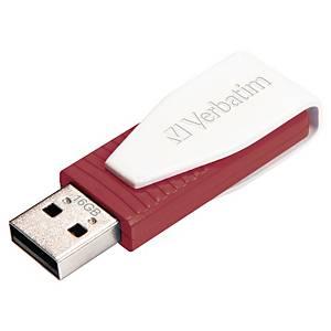 Memoria USB Verbatim Store  n  Go Swivel - USB 2.0 - 16 Gb - rojo