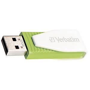 Clé USB 2.0 Verbatim Swivel, 32 Go, verte
