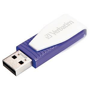 Memoria USB Verbatim Store  n  Go Swivel - USB 2.0 - 64 Gb - violeta