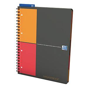 Oxford International Managersbook spiraalschrift A4+, geruit 5 x 5 mm, 80 vellen