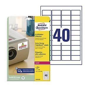 Etykiety zabezpieczające TripleBond Avery Zweckform 45,7x25,4mm,białe,800etykiet