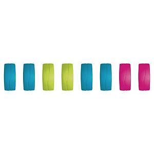 Magnet Maped, rektangulær  27 mm, ass. farger, pakke à 8 stk.