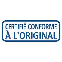 Tampon formule Trodat 4912 certifié conforme à l original - encrage automatique