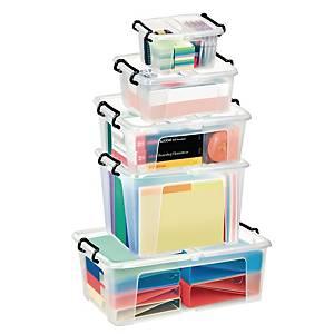 Cep Strata plastic opbergdoos, 1,7 liter, transparant, per opbergbox