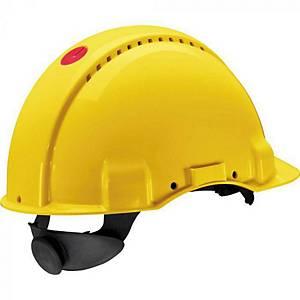 Casque de sécurité 3M™ G3000, jaune, avec molette de réglage