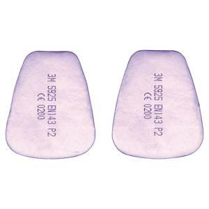 Partikelfilter 3M 5925, P2, pakke a 20 stk.