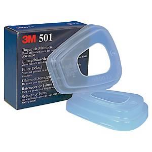 3M™ 501 szűrőbetét tartó adapter teljes- és félálarcokhoz, 2 darab