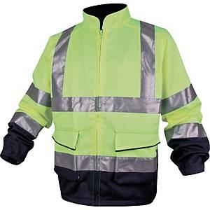Warnschutzjacke Deltaplus Panostyle, Größe L, 2 Taschen, gelb/blau
