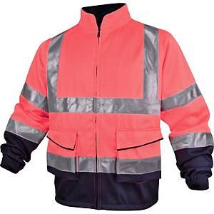 Warnschutzjacke Deltaplus Panostyle, Größe L, 2 Taschen, orange/blau