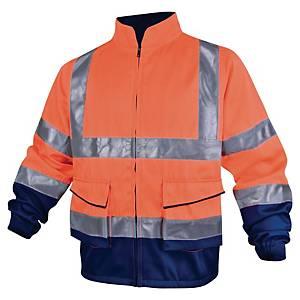 Warnschutzjacke Deltaplus Panostyle, Größe 3XL, 2 Taschen, orange/blau