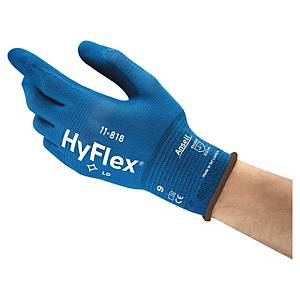 Caja de 12 pares de guantes de precisión Ansell HyFlex 11-818 - talla 9