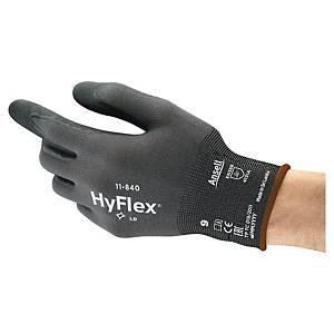 Mechanikschutzhandschuhe HyFlex 11-840, Schnittschutz, Größe 11, swz/gr, 1 Paar