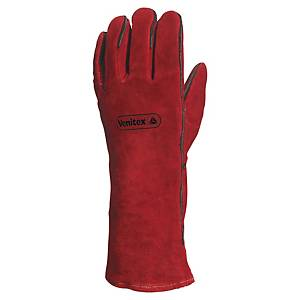 Delta Plus CA615K leather welding gloves red - size 10 - pack of 12 pairs