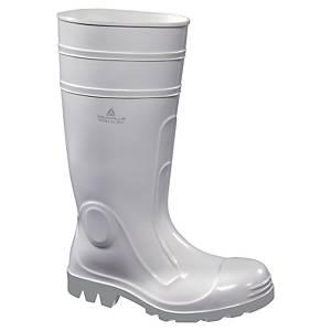 Paire de bottes de sécurité Deltaplus Viens 2 S4 en PVC blanches taille 39