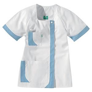 Lafont Health & Care blouse d uniforme courte femmes blanc/bleu ciel - taille 4