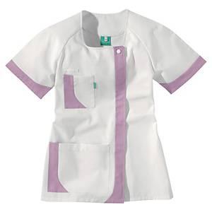 Lafont Health & Care blouse d uniforme courte pour femmes blanc/mauve - taille 1