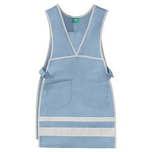 Lafont Care apron for women sky blue/white - size 3/5