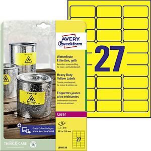 Avery Zweckform L6105-20 ellenálló poliészter etikettek, méret: 63,5 x 29,6 mm