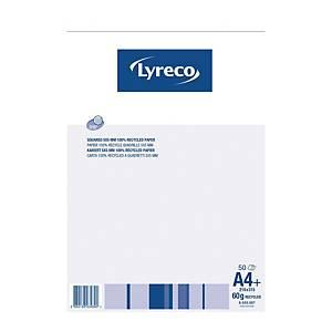 Bloc-notes Lyreco recyclé A4, 60 g/m2, 5 mm à carreaux, 50 feuilles