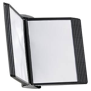 Durable Sherpa 5854 Style displaysysteem wandkit, 10 panelen, PP zwart