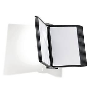 Sichttafel-Wandhalter Durable Sherpa 5854, inklusive 10 Tafeln, schwarz