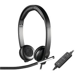 Logitech H650E 雙邊有線耳機