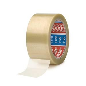 Tesapack® Extra Strong PVC tape, transparant, 50 mm x 100 m, pack van 6