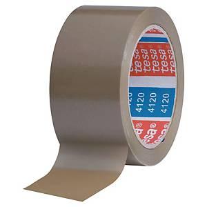 Ruban adhésif d emballage PVC Tesa 4120 - 50 mm x 100 m - havane - lot de 6