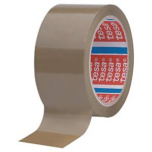 Pack de 6 cintas adhesivas de embalaje Tesa 4089 - 50 mm x 66 m - marrón