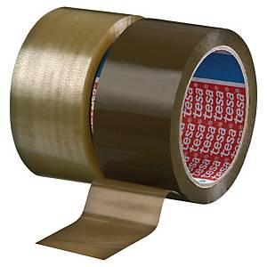 Pack de 6 cintas adhesivas de embalaje Tesa 4280 - 50 mm x 66 m - marrón