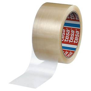 Pack de 6 cintas adhesivas de embalaje Tesa 4280 - 50 mm x 66 m - transparente