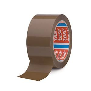 Tesa® 4024 PP tape, bruin, 50 mm x 66 m, per 6 rollen tape