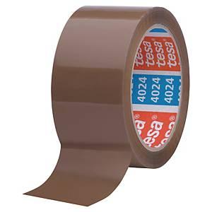 Pack de 6 cintas adhesivas de embalaje Tesa 4024 - 50 mm x 66 m - marrón