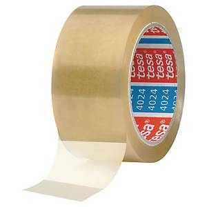 Pack de 6 cintas adhesivas de embalaje Tesa 4024 - 50 mm x 100 m - transparente