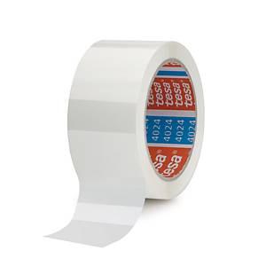 Tesa 4024 PP packaging tape 50 mm x 66 m white - pack of 6