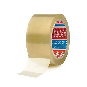 Tesa 4024 PP packaging tape 50 mm x 66 m transparent - pack of 6