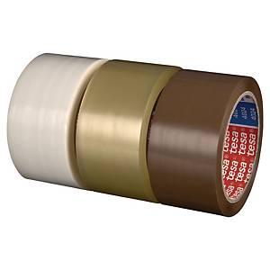 Pack de 6 fitas adesivas de embalagem Tesa 4024 - 50 mm x 66 m - transparente