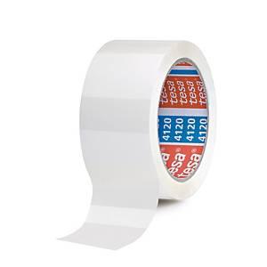 Tesa 4120 PVC packaging tape 50 mm x 66 m white - pack of 6